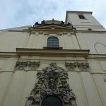  The imposing facade of the church.